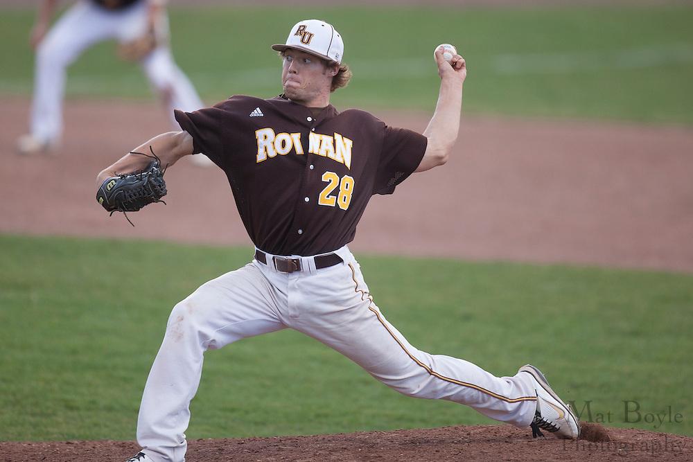 Rowan University Junior Left Handed Pitcher Kyle Brown (28); Rowan University Baseball defeats York College of Pennsylvania 4-3 in Glassboro, NJ on Tuesday March 20, 2012. (photo / Mat Boyle)