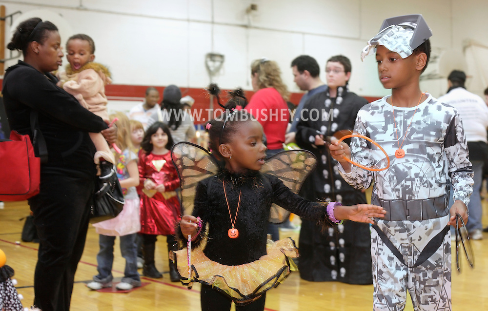 Middletown, New York - Children wearing costumes play games at the Fall Family Festival at the Middletown YMCA on Oct. 23, 2010.