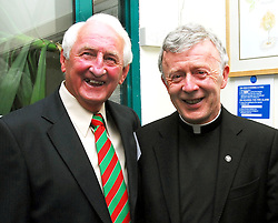 Frank Fleming and Archbishop Michael Neary pictured at Westport Town Council's civic reception for the Mayo Associations ahead of the world convention held in Westport...Pic Conor McKeown