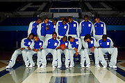 2011 - 2012 Hampton University Men's Basketball team photo in Hampton, Virginia.  October 07, 2011  (Photo by Mark W. Sutton)