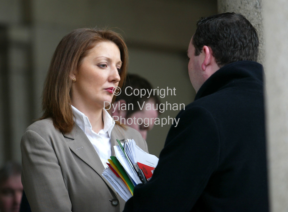 17/2/2004.Nessa Fitzgibbon pictured at Carlow Court yesterday in relation to a hit and run incident..Picture Dylan Vaughan
