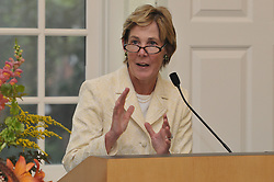 Linda Koch Lorimer, Vice President and Secretary - Yale University, speaking at Breaking The Veil Art Exhibit Opening Reception, 8 September 2009, at the Yale Divinity School.