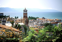 View of Puerto Vallarta, looking out to the Pacific Ocean.