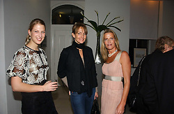 Left to right, LADY GABRIELLA WINDSOR, SAFFRON ALDRIDGE and INDIA HICKS at a party to celebrate the launch of India Hick's 'Island Living' range of frangrance and beauty products in association with Crabtree & Evelyn held at The Hempel, Craven Hill Gardens, London on 22nd November 2006.<br /><br />NON EXCLUSIVE - WORLD RIGHTS