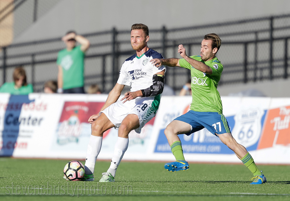 October 15, 2017: OKC Energy FC plays Seattle Sounders FC 2 in a USL game at Taft Stadium in Oklahoma City, Oklahoma.