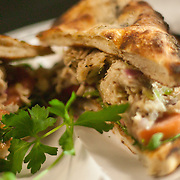 12/17/10 Wilmington DE: Italian Tuna Salad Sandwich served with Lemon, Olive Oil, Tomato &amp; Arugula only at Anthony's Coal Fired Pizzas in Wilmington Delaware.<br /> <br /> Special to The News Journal/SAQUAN STIMPSON