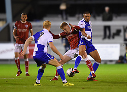 Connor Lemonheigh-Evans of Bristol City in action against Bristol Rovers - Mandatory by-line: Paul Knight/JMP - 16/11/2017 - FOOTBALL - Woodspring Stadium - Weston-super-Mare, England - Bristol City U23 v Bristol Rovers U23 - Central League Cup