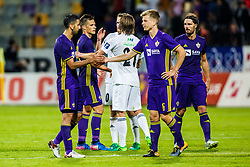 Marwan Kabha #8 of NK Maribor, Aleks Pihler #6 of NK Maribor, Marko Suler #4 of NK Maribor, Matej Palcic #29 of NK Mariborduring 1st Leg football match between NK Maribor (SLO) and FH Hafnarfjordur (ISL) in Third qualifying round of UEFA Champions League 2017/18, July 26, 2017, in Stadium Ljudski vrt, Maribor, Slovenia. Photo by Grega Valancic / Sportida