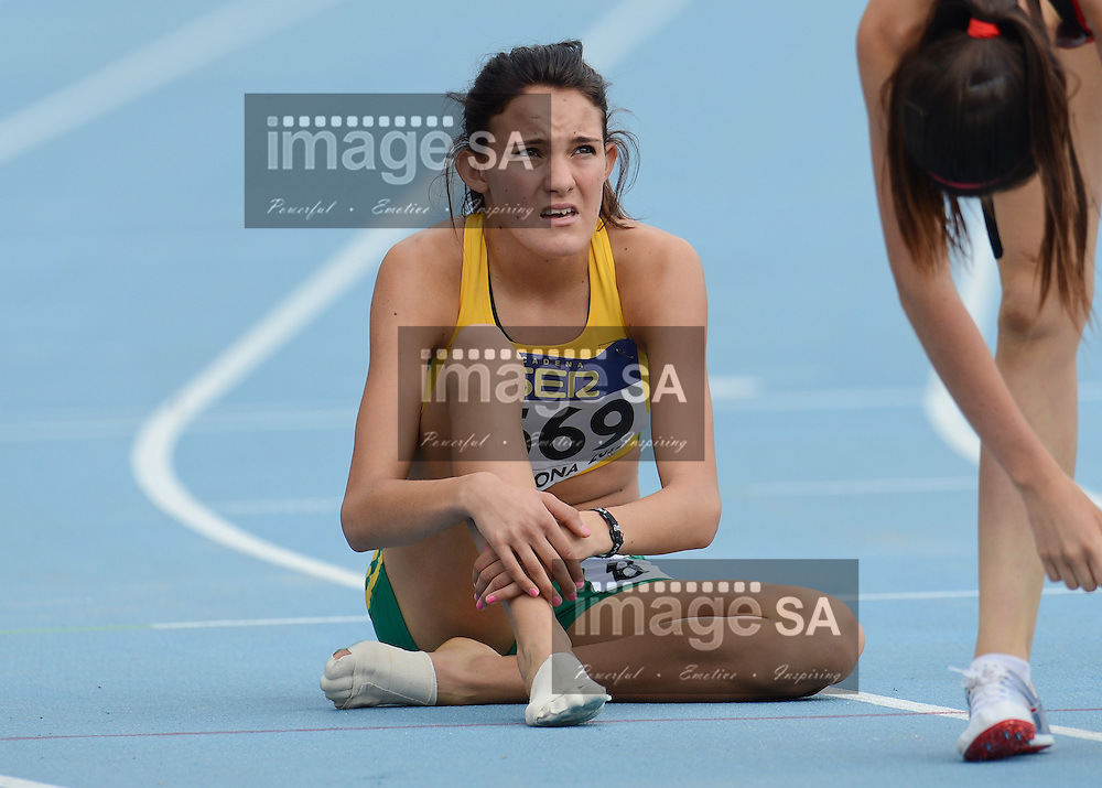 BARCELONA, Spain: Tuesday 10 July 2012, Monique Stander of South Africa in the ladies 800m during the morning session of Day 1 of the IAAF World Junior Championships at the Estadi Olimpic de Montjuic..Photo by Roger Sedres/ImageSA