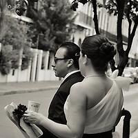 New Orleans Destination Wedding, Celebrating, Bourbon Street, Bride & Groom Photography