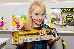 The Harry Potter Wizard Training Wand from Jakks Pacific retails for £24.99. Ahead of Christmas the Dream Toys exhibition at St Mary's Church in Marylebone, London showcases the hottest toys in the market including the top twelve. London, November 14 2018.