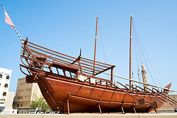 dhow outside Dubai Museum in United Arab Emirates