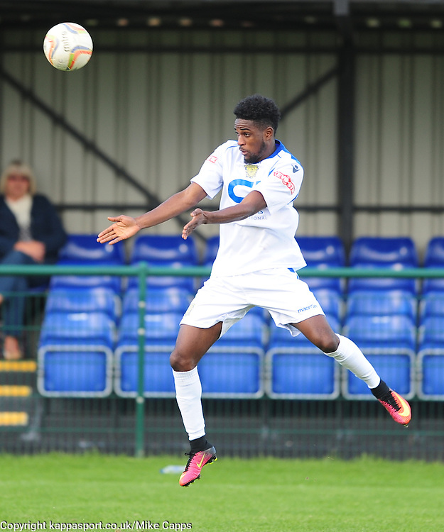 NANA OWUSU BASINGSTOKE TOWN Dunstable Town v Basingstoke Town Evo Stick Southern Premier League, Creasey Park Saturday 1st October 2016, Score 1-3<br /> Photo:Mike Capps