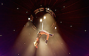 La Soiree<br /> at the La Soiree Spiegeltent, Southbank Centre, London, Great Britain <br /> press photocall<br /> 29th October 2015 <br /> <br /> <br /> Yammel Rodriguez <br /> aerial acrobatics <br /> <br /> <br /> Photograph by Elliott Franks <br /> Image licensed to Elliott Franks Photography Services