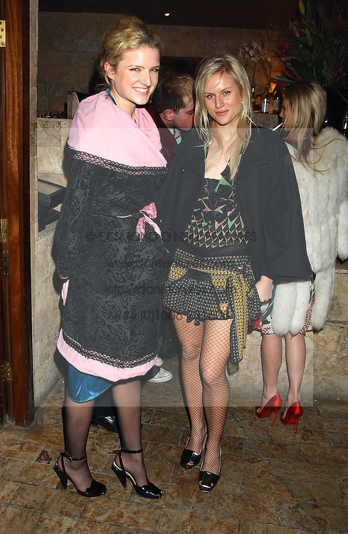 Sisters FIONA & OLYMPIA SCARRY at a party hosted by Daniella Helayel of fashion label ISSA held at Taman Gang, 141 Park Lane, London on 15th February 2006.<br /><br />NON EXCLUSIVE - WORLD RIGHTS