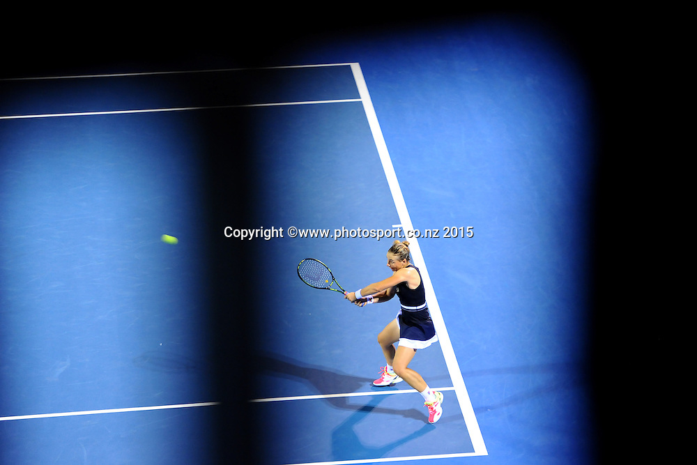 New Zealand player Marina Erakovic during the night session on Day 2 of the ASB Classic Women's International. ASB Tennis Centre, Auckland, New Zealand. Tuesday 6 January 2015. Copyright photo: Chris Symes/www.photosport.co.nz