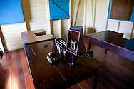 Telegraph room in Biran, Holguin, Cuba.