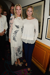 Left to right, ALICE NAYLOR-LEYLAND and VIOLET VESTEY at an exhibition of the 50 best party pictures from Tatler from the past 50 years, held at Annabel's, Berkeley Square, London on 9th September 2013.