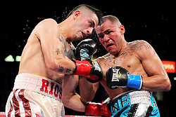 """October 13, 2012; Carson, CA; USA; Images from the HBO Boxing after Dark bout between Brandon """"Bam Bam"""" Rios and Mike Alvarado at the Home Depot Center in Carson, CA. **HBO USAGE ONLY**"""