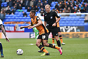 Hull City Defender, Isaac Hayden on the ball during the Sky Bet Championship match between Bolton Wanderers and Hull City at the Macron Stadium, Bolton, England on 30 April 2016. Photo by Mark Pollitt.