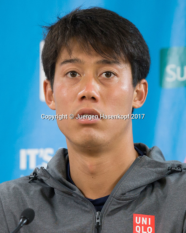 KEI NISHIKORI (JPN), Pressekonferenz, Portrait.<br /> <br /> Tennis - Brisbane International  2017 - ATP -  Pat Rafter Arena - Brisbane - QLD - Australia  - 8 January 2017. <br /> &copy; Juergen Hasenkopf