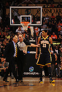 Mar. 6 2010; Phoenix, AZ, USA;  Indiana Pacers forward Danny Granger (33) and head coach Jim O'Brien walk off the court in the second half at the US Airways Center.  Mandatory Credit: Jennifer Stewart-US PRESSWIRE