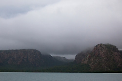 Dramatic wet season storms in Dugong Bay on the Kimberley coast.