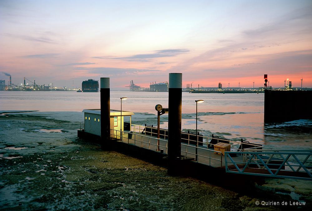 Fast Ferry platform Pistoolhaven at Europoort, Port of Rotterdam, Kodak Ektar collectie