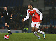 Arsenal midfielder Jeff Reine-Adelaide during the Barclays U21 Premier League match between Brighton U21 and Arsenal U21 at the American Express Community Stadium, Brighton and Hove, England on 30 November 2015. Photo by Bennett Dean.