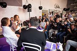 Tina Maze and Ilka Stuhec during Milka press conference, on October 3, 2017 in Lolita Cake Shop, Ljubljana, Slovenia. Photo by Vid Ponikvar / Sportida