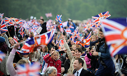 © under license to London News Pictures. LONDON, UK  29/04/2011. The Royal Wedding of HRH Prince William to Kate Middleton.  Royal fans in Hyde Park. Photo credit should read Stephen Simpson/LNP.