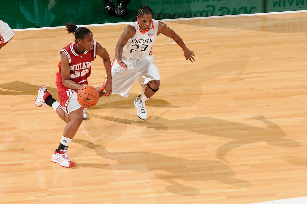 December 5, 2008: Jori Davis of the Indiana Hoosiers in action during the NCAA basketball game between the Miami Hurricanes and the Indiana Hoosiers. The Hoosiers defeated the 'Canes 69-54.