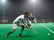 Canterbury's Tom Richford against Surbiton in the NOW: Pension Men's Hockey League Premier Division, Polo Farm, Canterbury, Kent, 22nd November 2014.