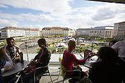 dOCUMENTA (13) in Kassel, Germany..Königsplatz seen from Zanetti Eis