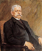 Max Liebermann (1847–1935) German painter. 1927 portrait of Paul von Hindenburg 1847-1934, Field marshal during World War One and second president of the Weimar Republic (1925-34)