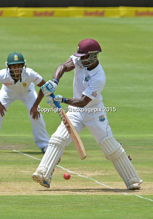 Devon Smith of the West Indies during Day 1 of the 2015 Sunfoil Test Series Cricket Match between South Africa and the West Indies at Newlands Stadium, Cape Town on 2 January 2015 ©Chris Ricco/BackpagePix