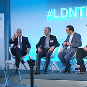 London,England,UK : 20 th June 2016 : Speaker Prof. David Gann,Mike Phillips,Oli Barrett,Dr. Julia Fan Li t the London Technology Week 2016 opening press day at The Yard,Worship Street, London. Photo by See Li