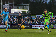 Forest Green Rovers Dayle Grubb(8) shoots at goal during the EFL Sky Bet League 2 match between Forest Green Rovers and Coventry City at the New Lawn, Forest Green, United Kingdom on 3 February 2018. Picture by Shane Healey.