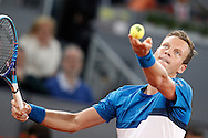 Tomas Berdych during the Madrid Open at Manzanares Park Tennis Centre, Madrid<br /> Picture by EXPA Pictures/Focus Images Ltd 07814482222<br /> 06/05/2016<br /> ***UK &amp; IRELAND ONLY***<br /> EXPA-ESP-160506-0003.jpg