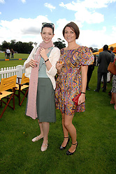 Left to right, actress TALULAH RILEY and HOLLY DAVIDSON at the final of the Veuve Clicquot Gold Cup 2007 at Cowdray Park, West Sussex on 22nd July 2007.<br />