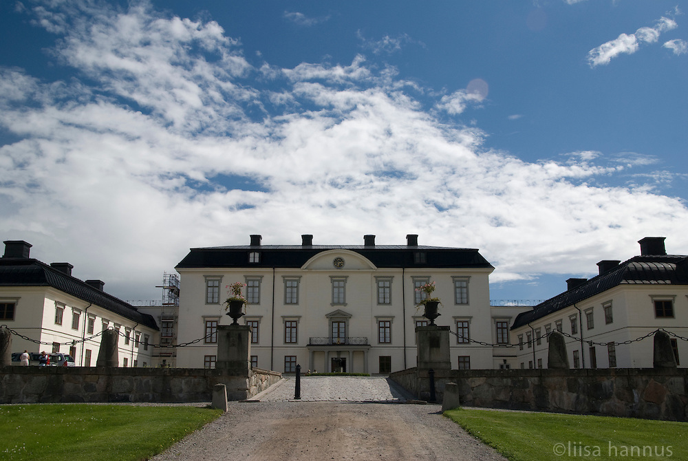 The courtyard at Rosersbergs Slott, or Rosersberg Palace, one of the Royal Palaces of Sweden. It is situated on the shores of Lake Mälaren, on the outskirts of Stockholm.