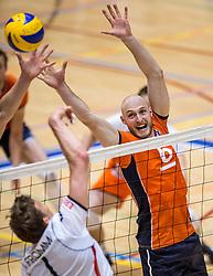 05-06-2016 NED: Nederland - Duitsland, Doetinchem<br /> Nederland speelt de laatste oefenwedstrijd ook in  Doetinchem en speelt gelijk 2-2 in een redelijk duel van beide kanten / Jasper Diefenbach #6, Christian Fromm #1
