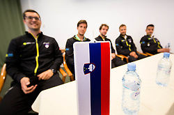 Team Slovenia during Official Draw of Davis Cup 2018 Europe/Africa zone Group II between Slovenia and Turkey, on April 6, 2018 in Portoroz / Portorose, Slovenia. Photo by Vid Ponikvar / Sportida