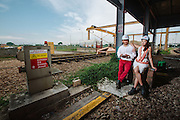 The Peeping Thom shoots Kelvin & Vanessa at SMRT depot.