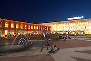 Poland West Mazovia Lodz Manufactura Shopping and Entertainment Centre Night
