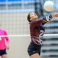 Ganado Hornet Tiara Cook (2) reverse volley's to the Window Rock Scouts at Ganado High School in Burnside Tuesday.