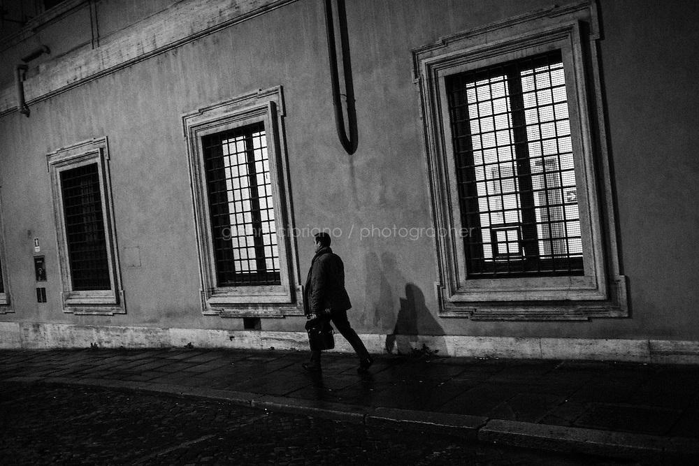 ROME, ITALY - 26 February 2014:  The Italian Senate, at Palazzo Madama in Rome, Italy, on February 26th 2014.
