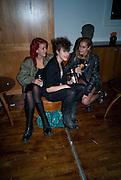 LAURA FRASER; ELIZA;  ALICE DELLAL; Nokia 'Capsule N96' ,  launch party. Century Club, 61-63 Shaftesbury Avenue, London *** Local Caption *** -DO NOT ARCHIVE-© Copyright Photograph by Dafydd Jones. 248 Clapham Rd. London SW9 0PZ. Tel 0207 820 0771. www.dafjones.com.