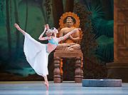 La Bayadere <br /> The Mariinsky Ballet <br /> at The Royal Opera House, London, Great Britain <br /> Press photocall 10th August 2017 <br /> <br /> Viktoria Tereshkina as Nikiya<br /> <br /> <br /> Photograph by Elliott Franks <br /> Image licensed to Elliott Franks Photography Services
