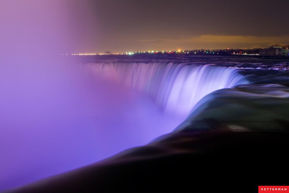 Niagara Falls as seen from Ontario, Canada.